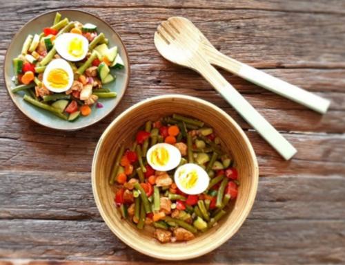 Sperziebonen salade met kip